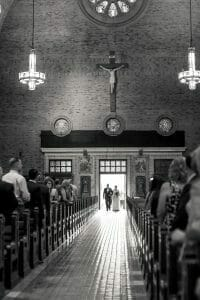 Wedding in St. Patrick's Church in Philadelphia