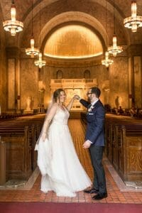 Wedding portraits in St. Patrick's Church in Philadelphia