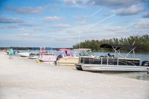 Boat ride to Keewaydin Island
