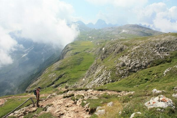 Honeymoon hiking in the Dolomites