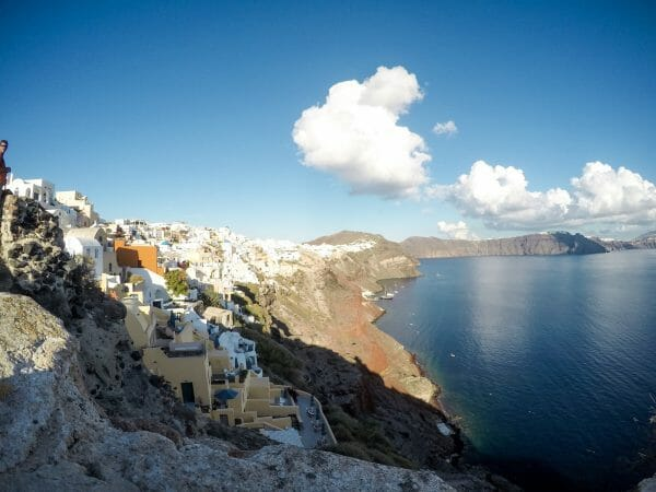 View of Santorini cliffside