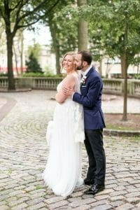 Wedding portraits in Rittenhouse Square in Philadelphia