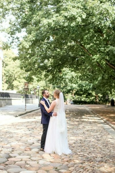Wedding portraits in Old City Philadelphia