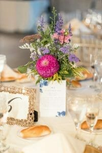 Wildflower centerpieces for wedding reception