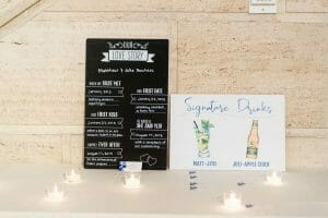 Somersby signature drink sign for wedding reception