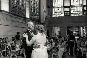 Father daughter dance at Union Trust in Philadelphia
