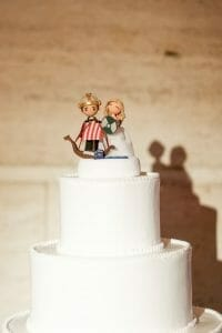 Custom made Viking wedding cake topper