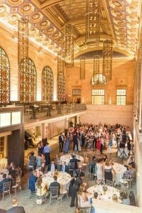 Summer wedding reception at Union Trust in Philadelphia