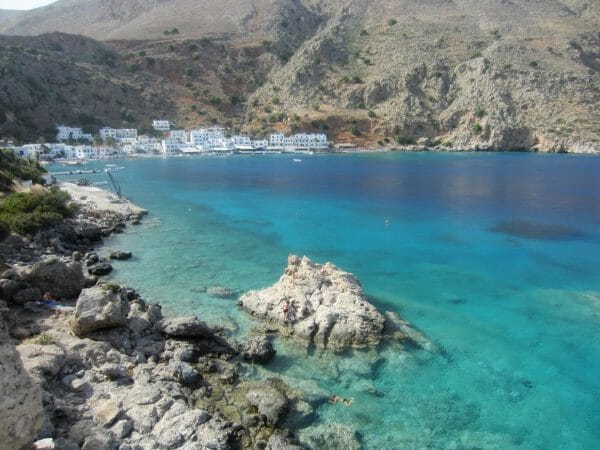 Loutro, Crete blue and turquoise water