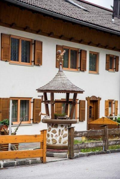 Historic well in Niederbreitenbach, Austria
