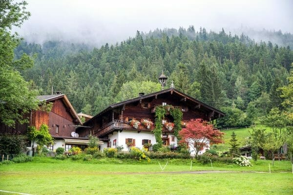 Chalet in Alps in Austria