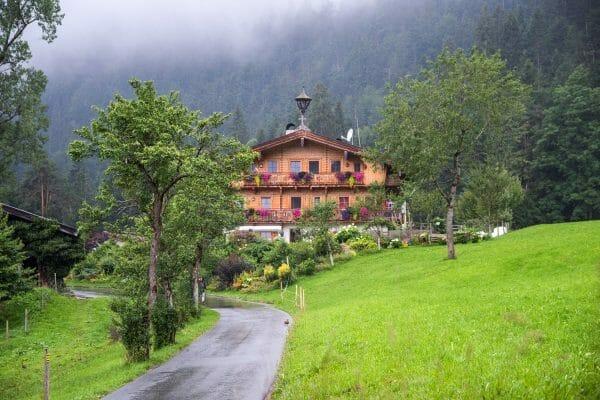 Austrian chalet in Alps