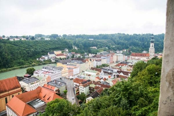 View of Burghausen city