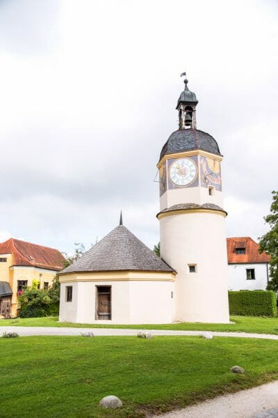 Burghausen Castle clock tower