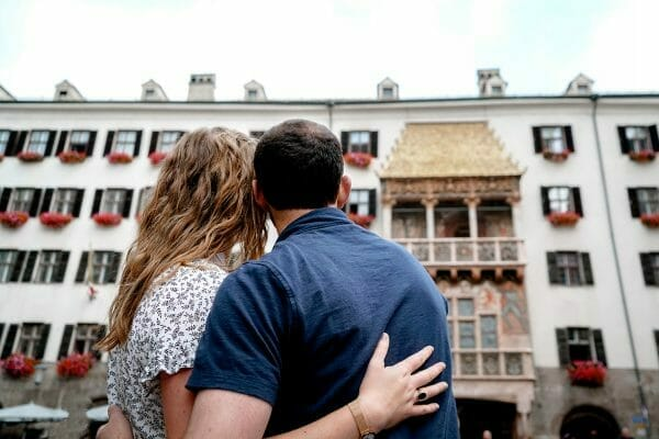 Couples photo by Golden Roof in Innsbruck
