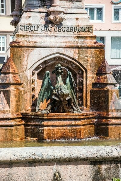 Dragon fountain in Innsbruck