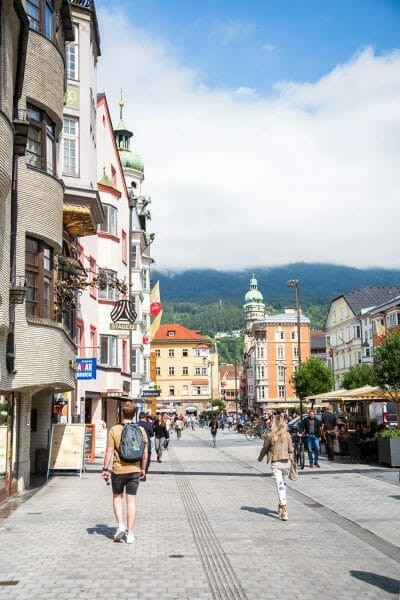 Walking street in Innsbruck