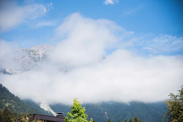 Foggy Alps in Innsbruck