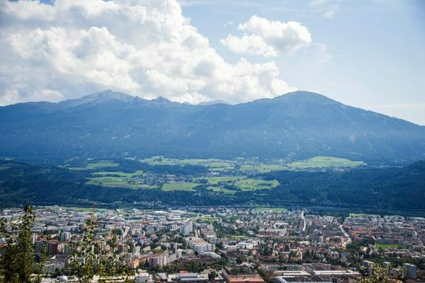 View of Innsbruck from Alps