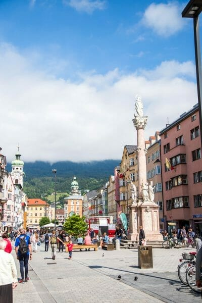 Walking street in Old City Innsbruck