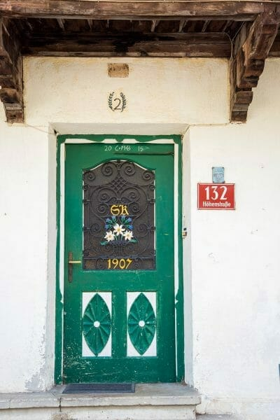 Green door in Innsbruck