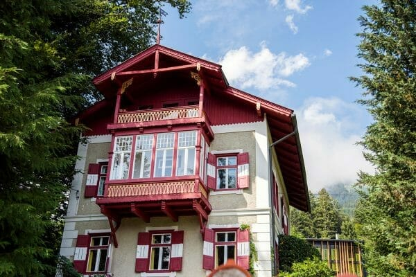 Red chalet in Austria