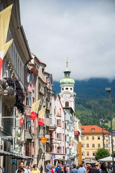 Historic architecture in Innsbruck