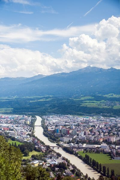 View of Innsbruck in the Alps