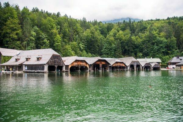 Boat houses on Lake Konigssee