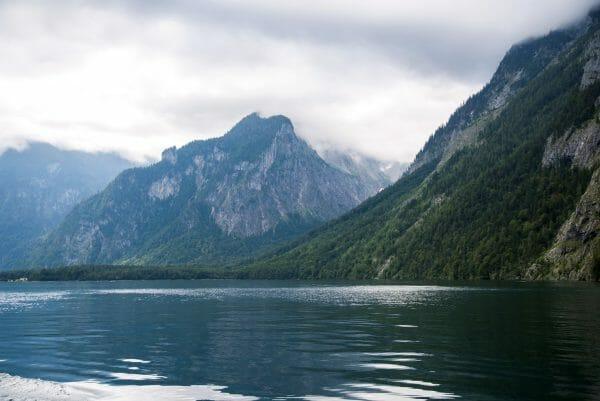 German Alps on a lake