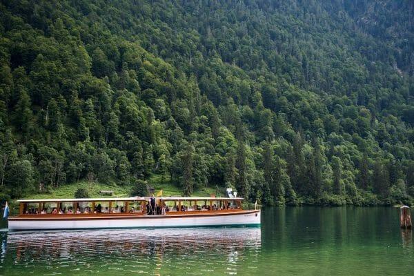Boat on Lake Konigssee