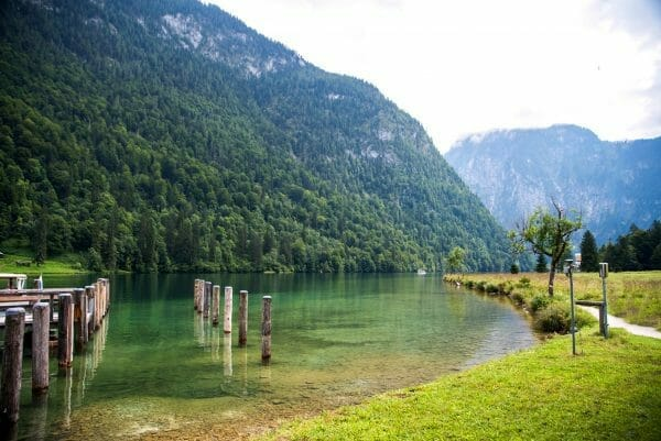 Lake Konigssee with Alps