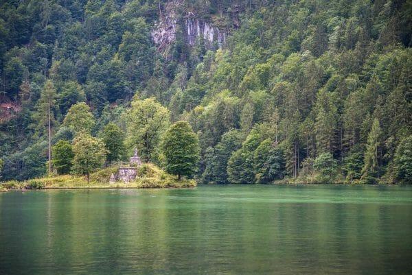 Historic ruins on Lake Konigssee