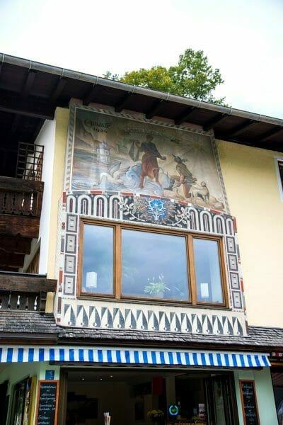 Fresco on house by Lake Konigssee