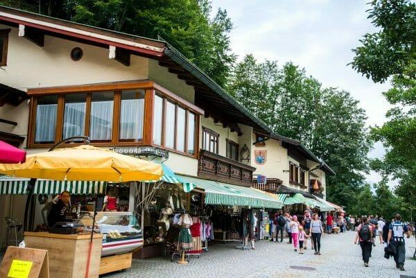 Shops by Lake Konigssee