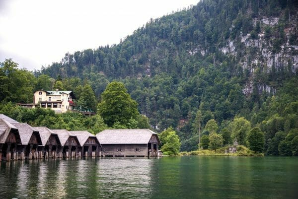 Boat sheds on Lake Konigssee
