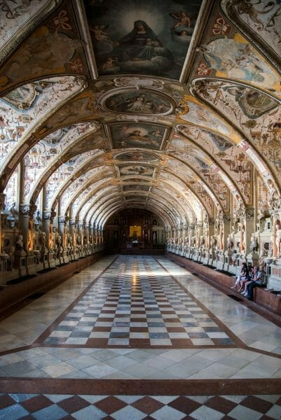 Grand hall in Residenz in Munich