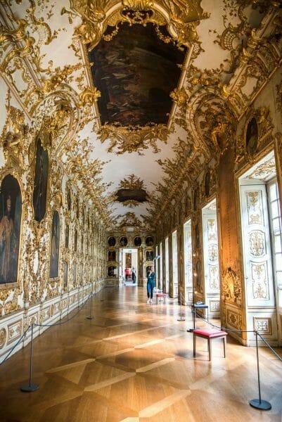 Golden hallway in in Residenz