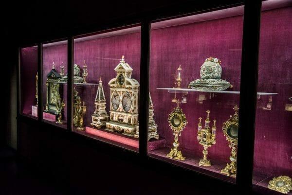 Historic relics in museum