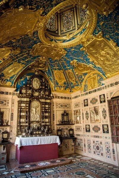 Blue and gold ceiling in Residenz