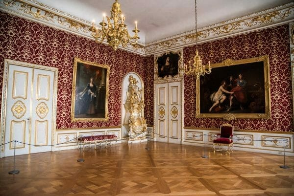 Red and gold ballroom in Residenz