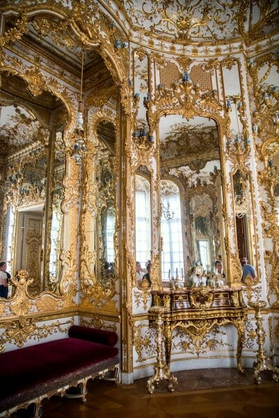 Gold room with mirrors in Residenz