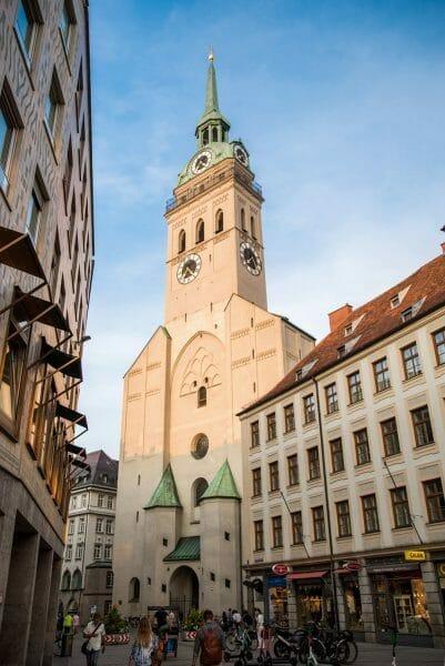 White stone church in Munich
