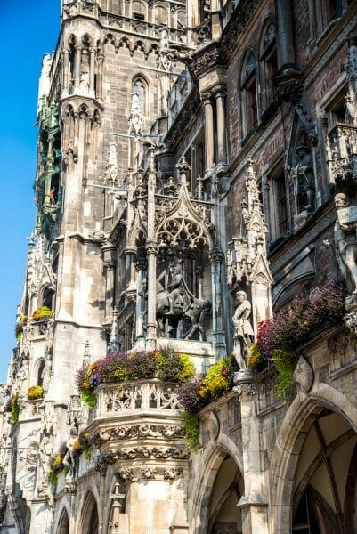 Historic Munich Town Hall statues