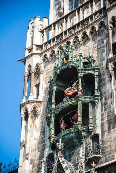 Historic Munich Town Hall clock tower