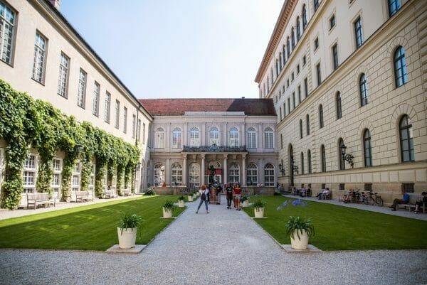 Garden in Residenz in Munich