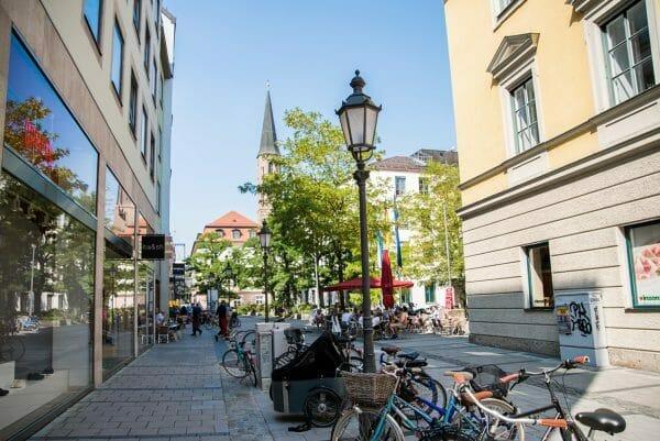 Walking street in Munich