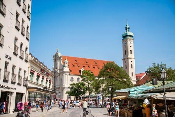 Outdoor market in Munich