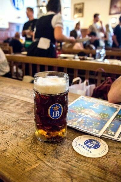 Beer in Hofbräuhaus