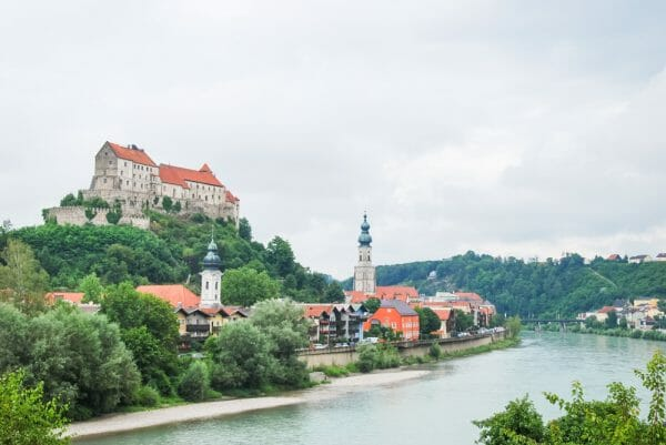Burghausen by the river